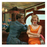 "The Day He Went Away - Saturday Evening Post ""Leading Ladies"", April 11, 1959 pg.21 Giclee Print by Austin Briggs"