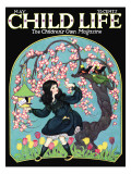 Birdhouse - Child Life, May 1925 Giclee Print by Hazel Frazee