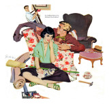 """Two Men are Better Than One  - Saturday Evening Post """"Leading Ladies"""", July 1, 1950 pg.20 Giclee Print by Joe deMers"""