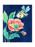 Sleeping Firefly - Jack and Jill, August 1959 Giclee Print by Wilmer Wickham