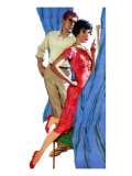 "Marriage Crisis - Saturday Evening Post ""Men at the Top"", August 30, 1958 pg.25 Giclee Print by Morgan Kane"