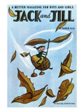 Flying Acorn - Jack and Jill, October 1954 Giclee Print by Leo Politi