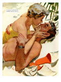 "The Flordia Assignment - Saturday Evening Post ""Leading Ladies"", March 13, 1954 pg.35 Giclee Print by Thorton Utz"