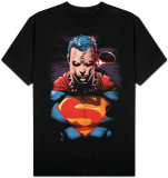 Superman - Red Eyes on Black Tshirts