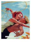 """A Very Modern Girl  - Saturday Evening Post """"Leading Ladies"""", October 3, 1953 pg.35 Giclee Print by R.G. Harris"""