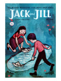 Paper Sailboats - Jack and Jill, July 1956 Giclee Print by Leo Politi