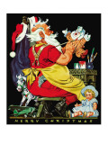 Santa at Work - Child Life, December 1939 Giclee Print by Keith Ward