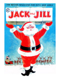 Santa&#39;s Here - Jack and Jill, December 1958 Reproduction proc&#233;d&#233; gicl&#233;e par Beth Henninger Krush