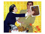 "The Man Who Invented A Girl - Saturday Evening Post ""Men at the Top"", December 5, 1959 pg.31 Giclee Print by Robert Jones"