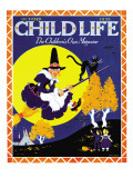 Witches Flight - Child Life, October 1935 Giclee Print by Marie Lawson
