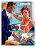 """Saturday Miracle  - Saturday Evening Post """"Leading Ladies"""", September 18, 1954 pg.35 Giclee Print by R.G. Harris"""