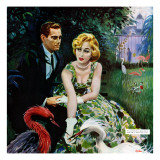 "The Business of Love - Saturday Evening Post ""Leading Ladies"", April 6, 1957 pg.26 Giclee Print by George Hughes"