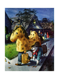 Trick or Treat - Jack and Jill, October 1955 Giclee Print by Georgeann Helms