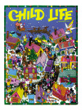Christmas Village - Child Life, December 1972 Giclee Print by Dave Taylor