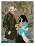 """The Fickle Feeling - Saturday Evening Post """"Leading Ladies"""", May 14, 1960 pg.40 Giclee Print by Robert Jones"""