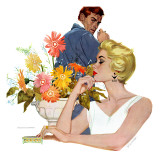 "Anniversary Quarrel - Saturday Evening Post ""Leading Ladies"", October 20, 1956 pg.33 Giclee Print by Lynn Buckham"