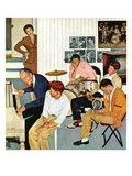 &quot;Jammin with Dad&quot; December 1, 1956 Giclee Print by John Falter