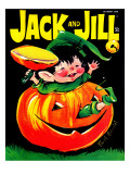 Pumpkin Play - Jack and Jill, October 1969 Giclee Print by Ruth Bendel