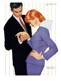 "I Love You, Mama Girl - Saturday Evening Post ""Men at the Top"", March 31, 1956 pg.25 Giclee Print by Joe deMers"