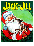 Deer Santa - Jack and Jill, December 1966 Giclee Print by Robert Jefferson