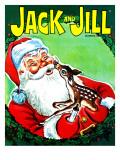 Deer Santa - Jack and Jill, December 1966 Giclee Print by Robert Jefferson