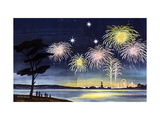 Fireworks - Jack and Jill, July 1950 Giclee Print by Wilmer Wickham
