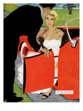 "No Love Allowed, A - Saturday Evening Post ""Leading Ladies"", March 26, 1955 pg.26 Giclee Print by Mac Conner"