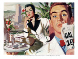 "The Lady and the Mug  - Saturday Evening Post ""Leading Ladies"", August 28, 1954 pg.31 Giclee Print by Perry Peterson"
