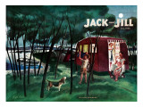 Camping - Jack and Jill, July 1946 Giclee Print by Joseph Krush