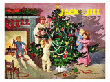 Deck the Halls - Jack and Jill, December 1950 Giclee Print by Dorothea Cooke