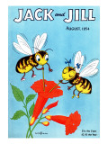 Honey Bee's Delight - Jack and Jill, August 1954 Giclee Print by Wilmer Wickham