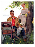 "Half Hearted Wife  - Saturday Evening Post ""Leading Ladies"", May 22, 1954 pg.43 Giclee Print by Ernest Chiriaka"