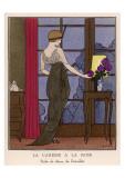 La Caresse A La Rose Schilderij