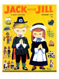 Thanksgiving Grace - Jack and Jill, November 1960 Giclee Print by Helen Wright