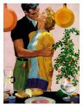 """Man With a Past - Saturday Evening Post """"Leading Ladies"""", December 31, 1955 pg.22 Reproduction procédé giclée par Al Buell"""