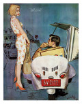 "The Casanova Car - Saturday Evening Post ""Leading Ladies"", September 5, 1959 pg.34 Gicléetryck av Coby Whitmore"