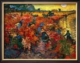 The Red Vineyard at Arles, c.1888 Framed Giclee Print by Vincent van Gogh