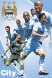 Man City-Players 11-12 Print