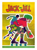 Rollerskating - Jack and Jill, April 1982 Giclee Print by Allan Eitzen