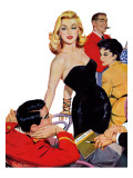 "The Mystery of X - Saturday Evening Post ""Leading Ladies"", October 1, 1955 pg.35 Giclee Print by John Fernie"