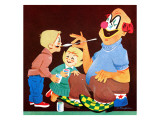 Face Painting - Jack and Jill, July 1961 Giclee Print by R. Bangham