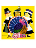 Thanksgiving Turkey - Jack and Jill, November 1961 Giclee Print by Helen Wright