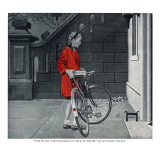 "Lonely Girl - Saturday Evening Post ""Leading Ladies"", August 11, 1945 pg.16 Giclee Print by George Hughes"