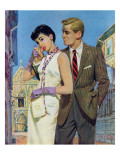 "The Lady Had an Angle  - Saturday Evening Post ""Leading Ladies"", August 20, 1955 pg.21 Giclee Print by Coby Whitmore"