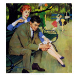 "Hand-Me-Down Girl - Saturday Evening Post ""Men at the Top"", May 2, 1959 pg.32 Giclee Print by Morgan Kane"