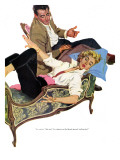 Shackles for The Groom  - Saturday Evening Post &quot;Leading Ladies&quot;, August 21, 1954 pg.21 Giclee Print by Perry Peterson