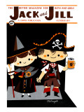 Pirate &amp; Witch - Jack and Jill, October 1957 Giclee Print by Milnazik 
