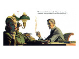 "To Live Forever  - Saturday Evening Post ""Men at the Top"", April 18, 1953 pg.21 Giclee Print by James Bingham"