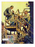 "The Disappearance of Dolan, Pt I, C - Saturday Evening Post ""Men at the Top"", April 12, 1954 pg.21 Giclee Print by James Bingham"