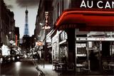 Calle parisina Afiche